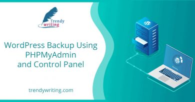 WordPress Backup Using PHPMyAdmin and Control Panel